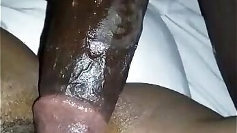 african HQ, creampied pussy, oiled