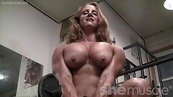 bodybuilder porn, female porn, hot babes, redhead babes, sex during workout