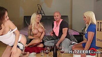 blondies, brunette girls, busty women, cock sucking, cum videos, cumshot porn, doggy fuck, foursome sex